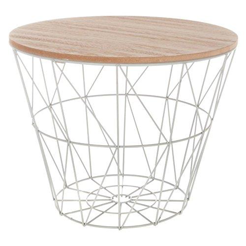 Paris Prix Atmosphera Créateur d'intérieur - Table d'Appoint Design Kumi 30cm Gris