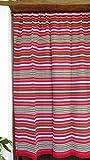 Cortina Alpujarreña Rustica,(160 x 215 cm), Color Rojos 625 Hecha en España, Fibra Natural de algodón - Cortina para Puerta Exterior mosquitera y Parasol