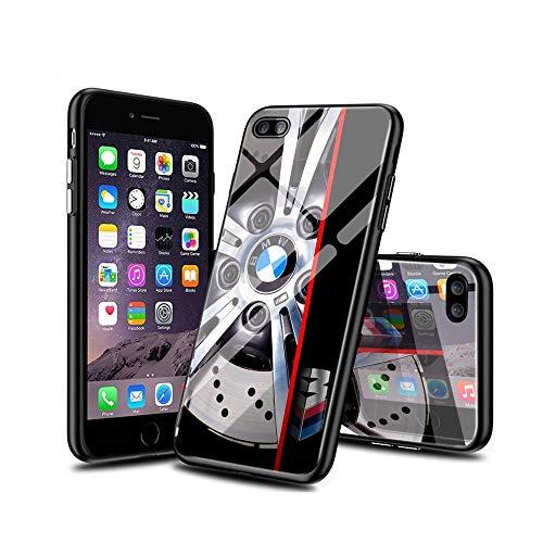 RO&CO iPhone 7 Funda, iPhone 8 Funda, Volver Vidrio Templado con Suave TPU de Parachoques absorción de Choque Caso Ultra-Delgado de iPhone 7 / iPhone 8 [Patrón de diseño], Funda BaIYVdZi A