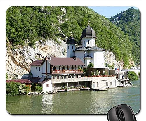 N\A Alfombrilla para ratón - Danubio Serbia Paisaje Paisaje Roca Puerta de Hierro 1