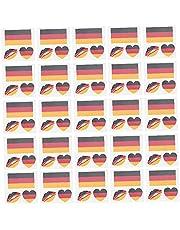 Vlag Tatoeages Zweetveilig Gezicht Body Decor Stickers Voetbal Cup Duitsland Tattoo Set 25PCS