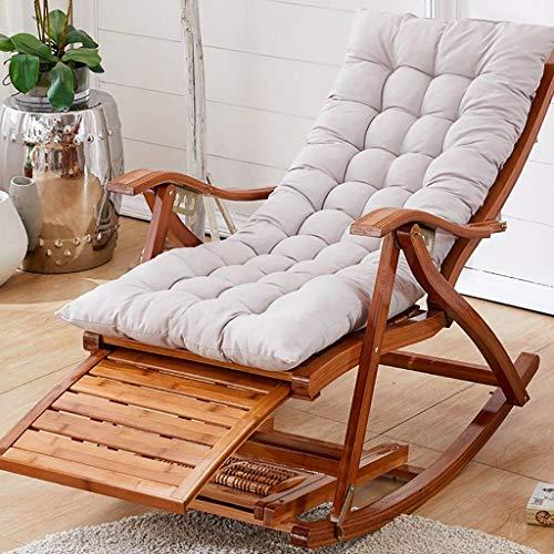 shcc Tumbona De Madera Sillón Reclinable De Bambú Robusto Y Cómodo Mecedora Diseño Ergonómico Chaise De Respaldo Alto Sillón Reclinable Plegable Jardín