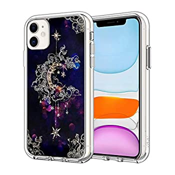 iPhone 11 Case Magical Moon Pattern Clear Design Transparent Plastic Back Case Cover Explosion-Proof