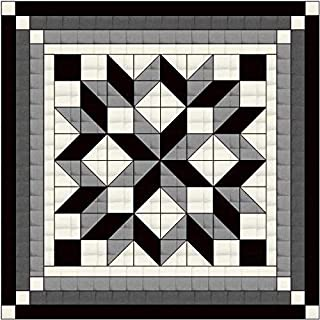 Easy Quilt Kit Carpenter's Wheel/Neutral/Solids Shades of Gray/Queen