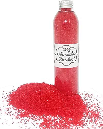 bunter Zucker Rot ( Kirschrot ) 250g Dekorzucker Glitzerzucker Zuckerwatte