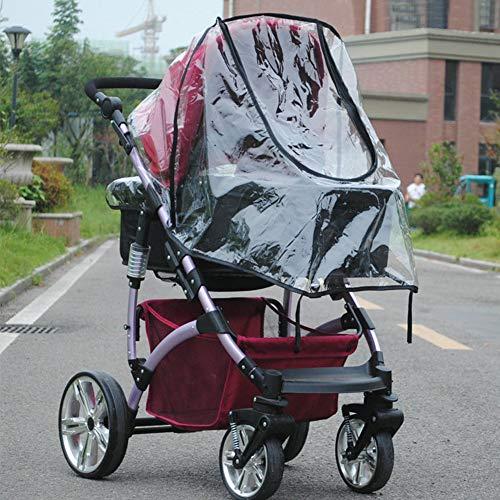 KOET Regenschutz für Kinderwagen, transparent, universeller Schutz für Kinderwagen und Buggys