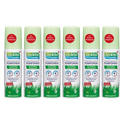 Zeckito sensitiv Insektenschutz Pumpspray 100 ml, 6er pack(6x100 ml)