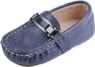 YuanDian Niñas Niños Zapatos De Cuero Suaves Zapatillas Antideslizantes Transpirables Piños Pequeños Piel Calzado Bajos Nu...