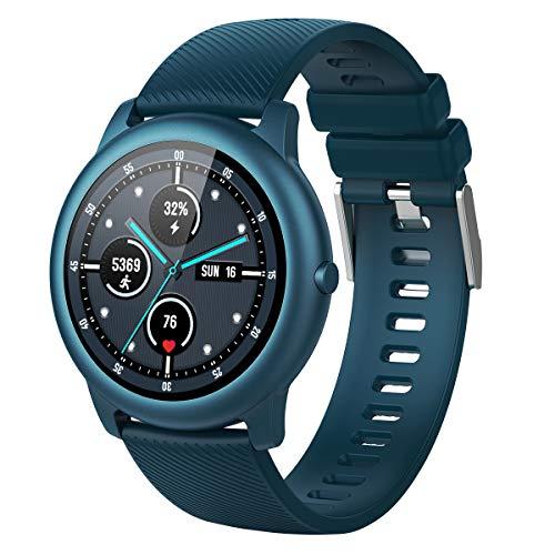 ELEGIANT Reloj Inteligente, Smartwatch para Hombres y Mujeres, Pulsera de Actividad IP68, Monitor de Frecuencia Cardíaca, Sueño, Podómetro 4 Diales + 1 Personalizado, Notificación para iOS Android