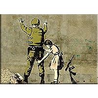 """BANKSY'S GRAFFITI SOLDIER FRISK FRIDGE MAGNET - Artist Banksy's Decorative Artwork Fridge Magnet - 2.5"""" x 3.5"""""""