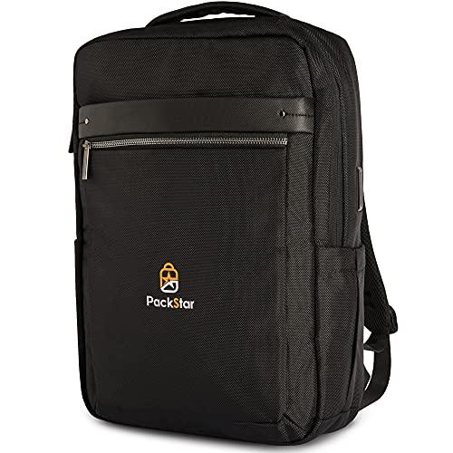 PackStar® Rucksack für Damen & Herren   17 L   ideal für Laptop & Co   inkl. Anti-Diebstahl & Kartenfach   ideal für das Business, eine Reise oder als Handgepäck Rucksack