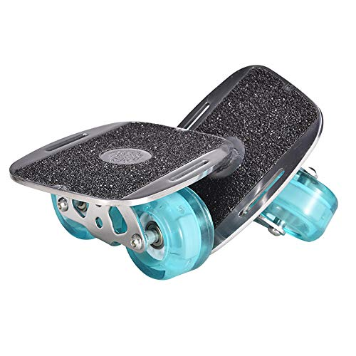 COOAK Drift Skates Plate,Rollar Road Drift Skate Plate with Blue Wheel and Flash Light,Drift Skating Board with Additional Bag and Tools and Two Bandages and Edge Protector