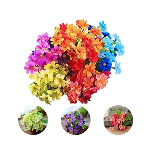 SNY Pequeña Flor de Margarita Flor Artificial Pequeña Margarita, Ramo de Flores Artificiales, Arreglo de Flores Falsas…
