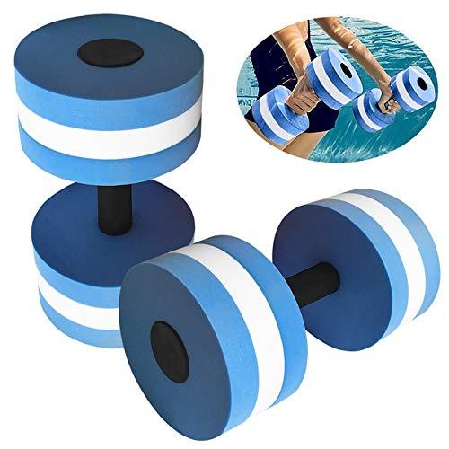 OSJDFD 2 Pezzi Aquatic Exercise manubri Set Pesi for Fare acquagym Fitness Piscina Corpo Buliding Acqua Esercizio Dumbbell (Color : Blue)