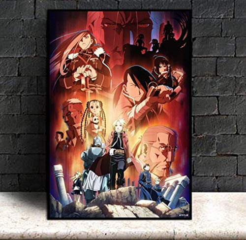 linbindeshoop Canvas Pictures Home Decoration Fullmetal Alchemist Anime Painting Wall Artwork HD Printed Nordic Poster(LE-1586) 40x60cm No frame
