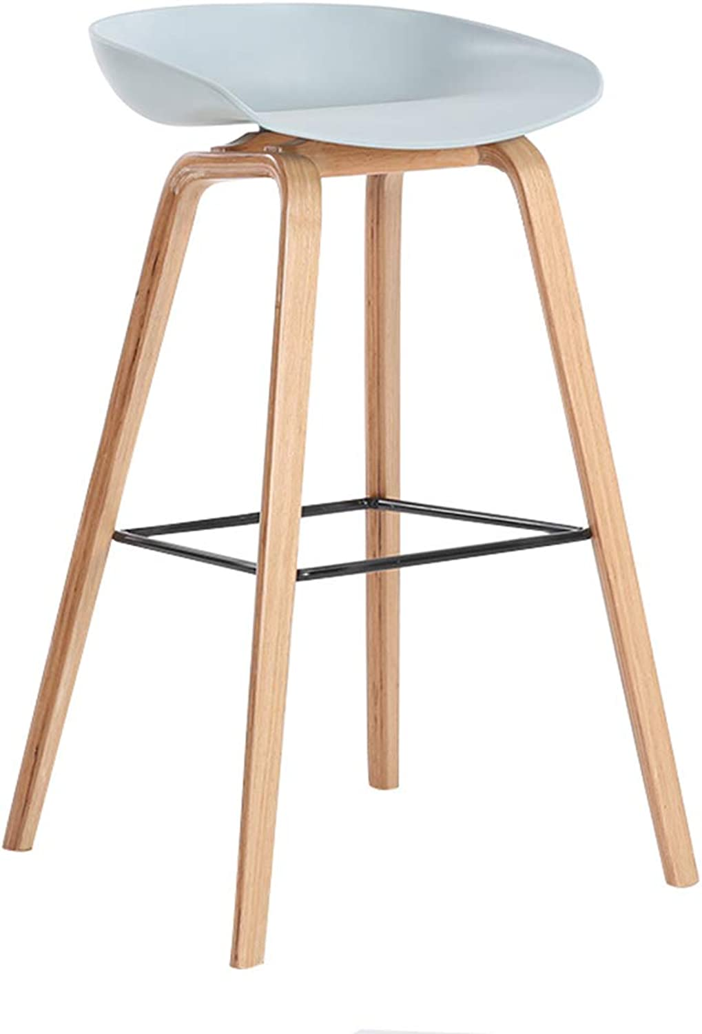 Barstool Bar Stool Kitchen Solid Wood Bar Table Cafe Chair Simple Modern Fashion Front Desk Home High European Nordic Leisure Creative (Size   76  49CM)