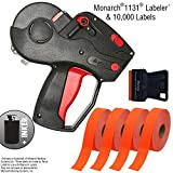 Monarch 1131 Price Gun with Labels Starter Kit: Includes Pricing Gun, 10,000 Fluorescent Red Labels, and Preloaded Inker