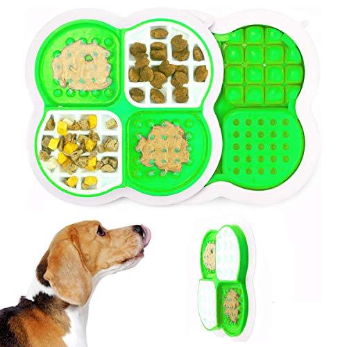 LATTCURE Leckmatte für Hunde Hund Leckmatte, Hund Lecken Pad, Slow Feeder Lick Mat, Ablenkgerät für das Waschen von Hunden Slow Treat Dispensing Mat Erdnussbutter Lick Mat - Super Saugkraft