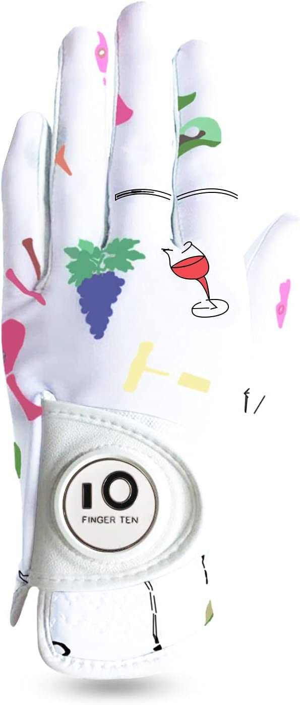 Golf Gloves Virginia Beach Mall Women Left Max 44% OFF Hand Right Leather Full Marker with Ball