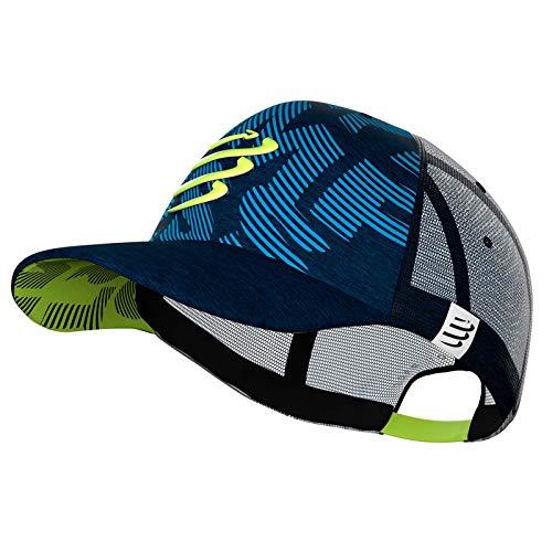 COMPRESSPORT Trucker Cap Blue/Lime 2020 Kopfbedeckung