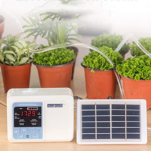 Kit di irrigazione a goccia, sistema di irrigazione a goccia con ricarica di energia solare, dispositivo di irrigazione automatico con timer, kit di irrigazione automatica per fiori, verdure