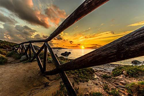 Puzzles De 1000 Piezas Para Adultos Sky Sunset Beach Scenery Montaje De Madera Decoración Para El Hogar Juego De Juguetes Juguete Educativo Para Niños Y Adultos Regalos