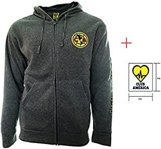 Icon Sport Club America Zip up Jacket Grey Adults Official Licensed New Season + Sticker