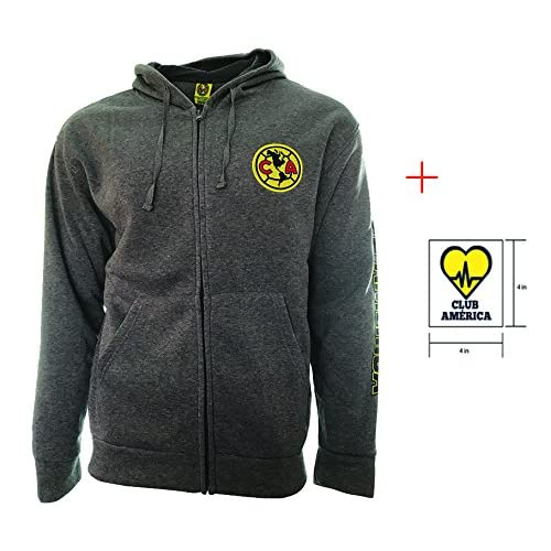 Club America Zip up Jacket Grey Adults Official licensed New Season + Sticker