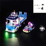 QJXF Juego De Luces USB Compatible con Lego Amigos Servicio Y Atención Al Camión 41348, LED Light Kit para (Servicio Y Atención Al Camión) De Bloques De Creación De Modelos (No Incluido Modelo)