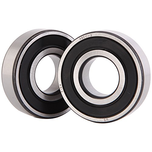 XiKe 2 Pack Lawn Mower Spindle Precise Ball Bearing, Replace MTD 941-0919, 741-0919, Husqvarna 532129895, 129895 & More, Quiet High Speed and Long Life.