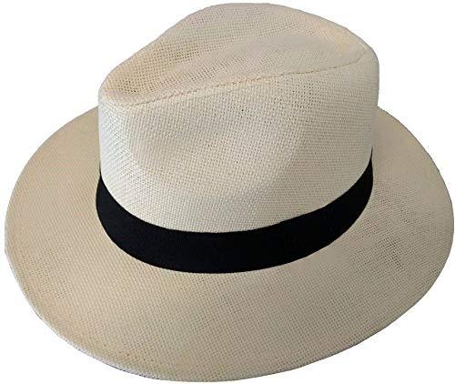 Chapéu Chapelaria Vintage Moda Panamá Palha Shantung - Aba Média – M