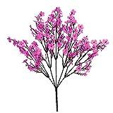 Plantas artificiales para decoración, 1 pieza realista Gypsophila hecho a mano realista de seda sintética flor realista realista falso Babysbreath