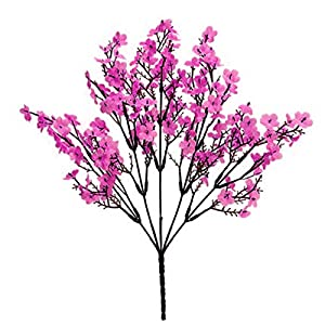 Artificial Flower for Party Home Decoration-1Pc Simulation Gypsophila Handmade Realistic Faux Silk Flower Lifelike Fake Babysbreath for Indoor – Pink