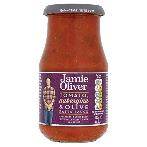 Jamie Oliver Sos pomidorowy, bakłażan i oliwkowy 400 g - opakowanie 6 szt.