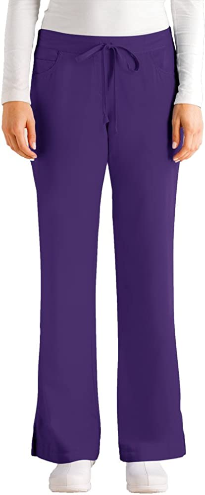 Grey's Anatomy Super special price Women's Junior-Fit Max 53% OFF Scrub Five-Pocket Drawstring P