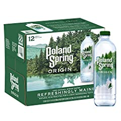 All NEW Poland Spring Brand Origin 100% natural spring water Sourced from a spring surrounded by pine trees, hidden in the woods of Maine Perfectly balanced, with naturally occurring electrolytes for a crisp, refreshing taste Bottle made from 100% re...