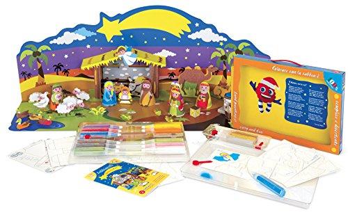 Sabbiarelli Sand-it for Fun - Kit Maxi Presepe 3D Nativity - Set Lavoretti Creativi: Crea e Colora...