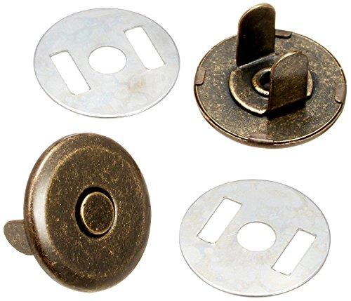 AOSNAP マグネットボタン 両面吸着マグネットホック 14mm アンティック 1個セット