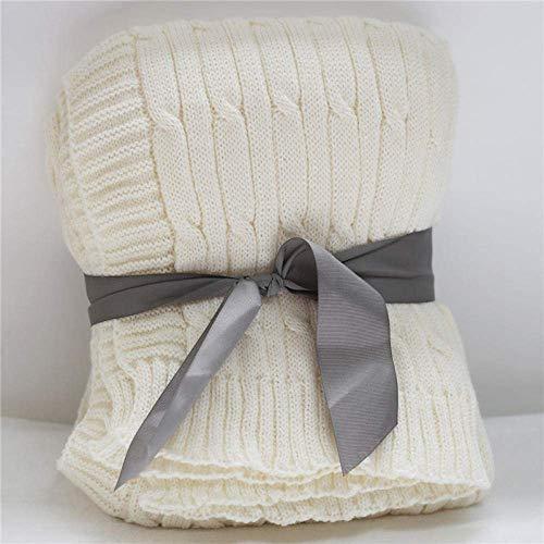 AYCPG Manta Doble/Twin Size Fleece Cama Mantas Cálidas Mantas Reversibles de Microfibra Reversible para Cama y sofá-Negro y Negro_127x152cm lucar (Color : Cream, Size : 127x152cm)