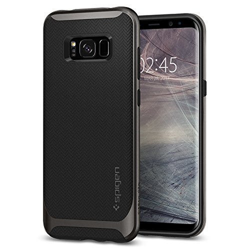 Spigen Neo Hybrid Hülle Kompatibel mit Samsung Galaxy S8 Plus -Gunmetal