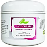 Sensitive Skin Body Moisturizer & Hot Cream Fat Burner for Women and Men – Body Cream with Antioxidant Herbs Botanicals & Fruit Extracts Apple Orange and Mango – Smooth & Brighten Skin