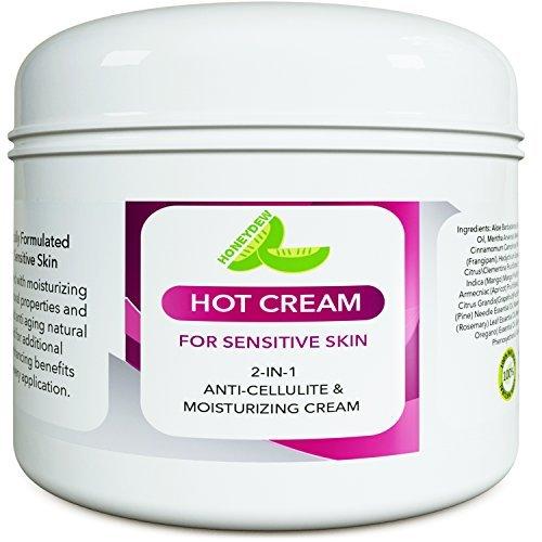Sensitive Skin Body Moisturizer & Hot Cream Fat Burner for Women and Men – Body Cream with Antioxidant Herbs Botanicals & Fruit Extracts Apple Orange and Mango – Smooth & Brighten Skin