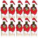 10 Unidades de Navidad botella de vino cubierta de la botella de vino de Navidad reutilizable Champagne titular decoración de Navidad para el hogar fiesta cocina mesa hotel bar