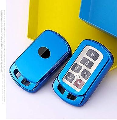 6 Buttons TPU Soft Smart keyless Remote Key Fob case Cover for 2011-2020 Toyota Sienna HYQ14ADR Royalfox TM Blue