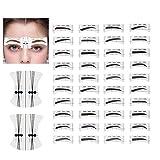 120 paar Augenbrauen Schablone,10 Typen Augenbrauen-Form-Aufkleber die Schablonen Augenbrauen Pflege Schablonen Installationssatz mit wiederverwendbaren Schablonen Werkzeugen