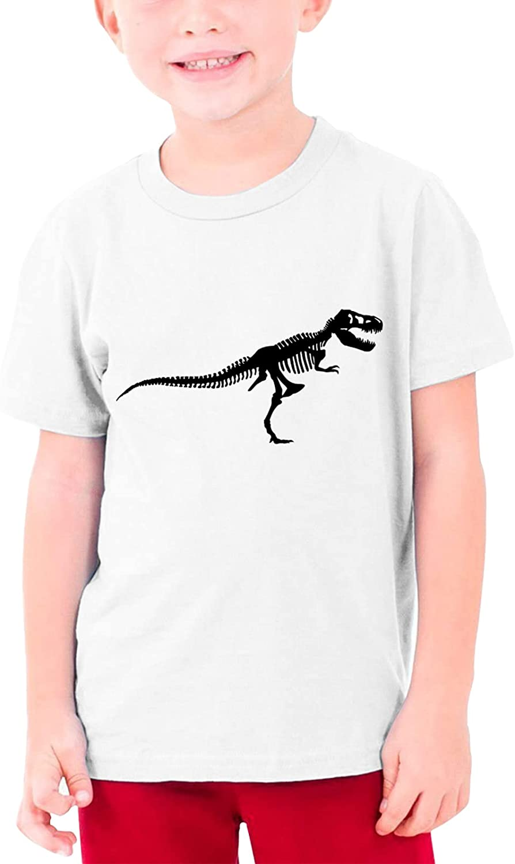Tyranasaurus Rex Dinosaur Skeleton Boys Girls Tshirts Short Sleeve Cotton T-Shirt Youth Tees Tops