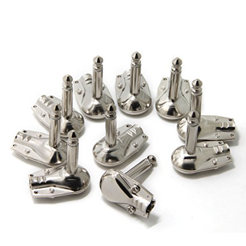 Cables para pedales de guitarra, con conector estándar de 0,6 cm, de perfil bajo y ángulo recto, cables para los pedales de efectos 10-Pack