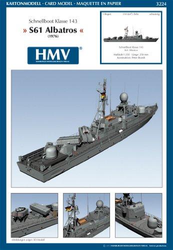 HMV 3224 Kartonmodell Schnellboot Klasse 143 S61 Albatros