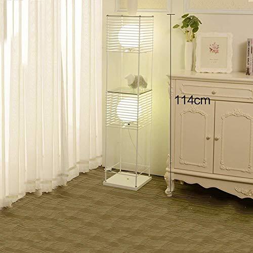 Allamp Norte de Europa Lámpara de pie, de Mesa de café Moderno y Minimalista de pie luminarias for Sala de Estar Dormitorio Bulbo Estudio Creativo Verticales contenidas (Color : White, Size : 1)