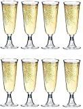Copas de Champan de Plastico - 50 Unidades - Vasos de Champagne Desechables - 100 ml - Irrompibles - Altura 16 cm